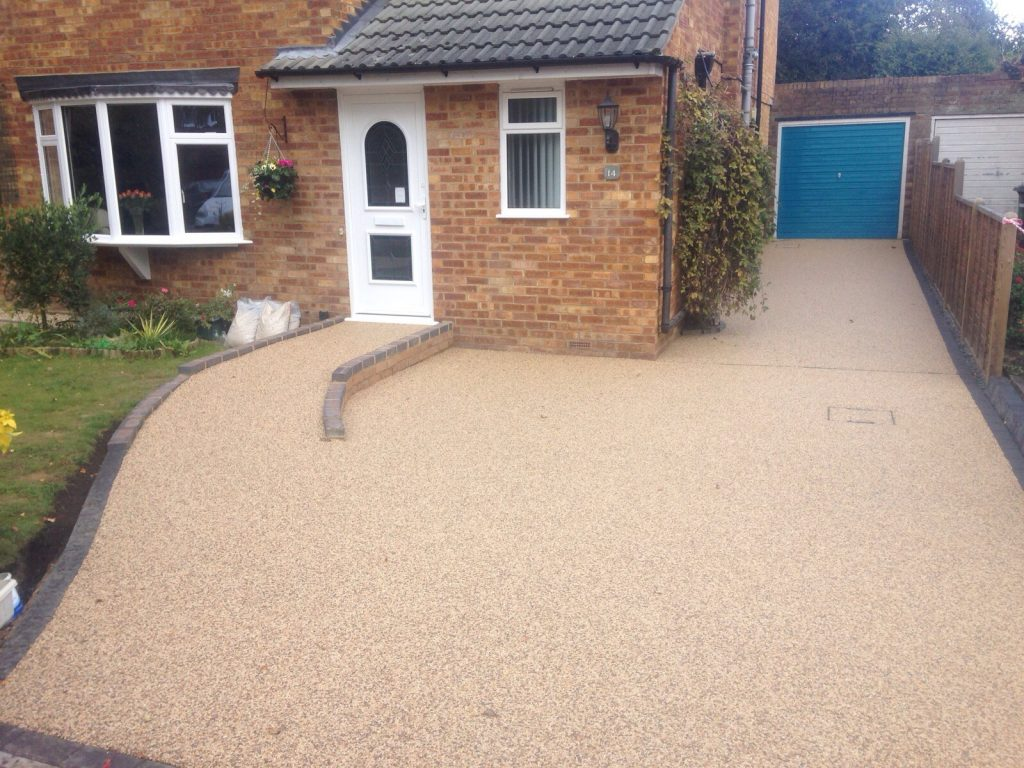 resin driveway completed in Hinckley